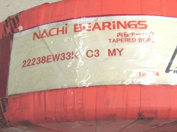 Nachi 22238 EW 33K Spherical Roller Bearing 190 X 340 X 92 mm Tapered Bore