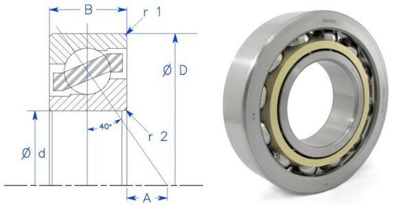 Enduro 7226 BECBM 40° angular contact bearing SKF FAG Nachi 130x230x40 BCBM