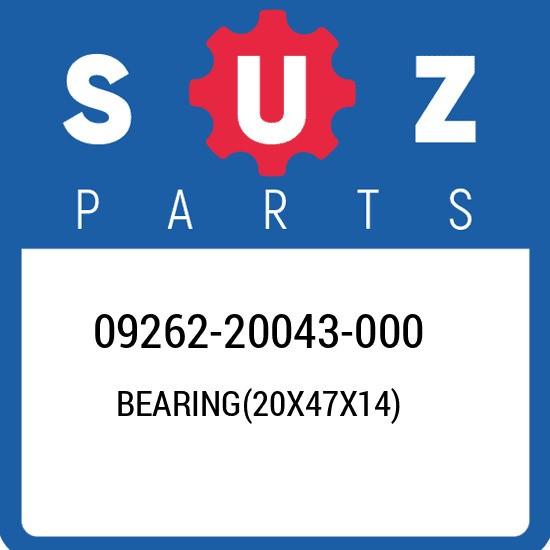 09262-20043-000 Suzuki Bearing(20x47x14) 0926220043000, New Genuine OEM Part