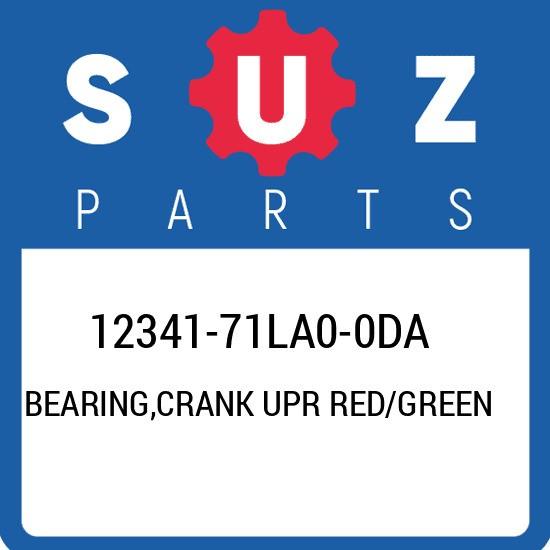 12341-71LA0-0DA Suzuki Bearing,crank upr red/green 1234171LA00DA, New Genuine OE
