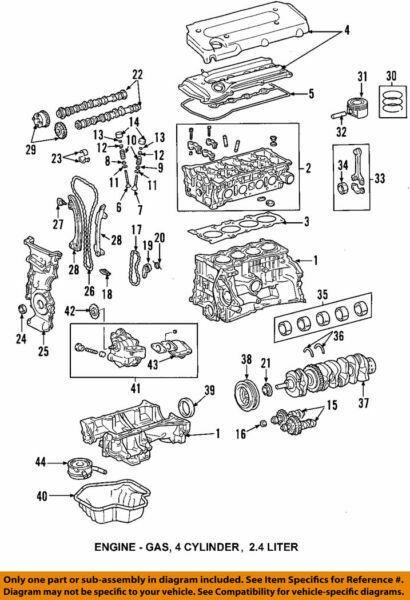 11721-28010-01 Toyota Bearing, crankshaft, no.2 117212801001, New Genuine OEM Pa