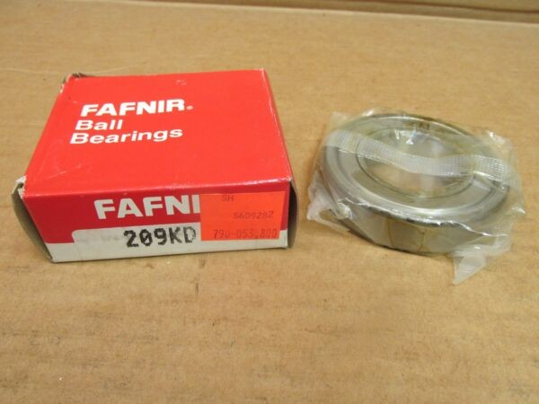 NIB FAFNIR 209KD BEARING METAL SEALED 1 SIDE 209 KD 6208-Z 45x85x19 mm USA