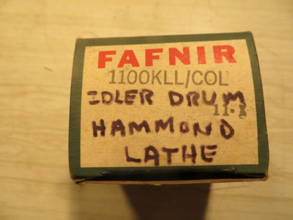 New FAFNIR 1100KLL+COL BEARING W/ Locking Collar , Hammond Lathe Idler Drum