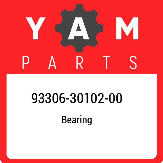 93306-30102-00 Yamaha Bearing 933063010200, New Genuine OEM Part