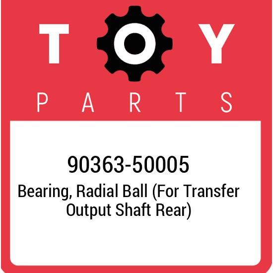 90363-50005 Toyota Bearing, radial ball (for transfer output shaft rear) 9036350