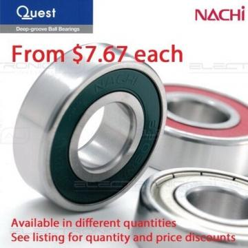 6301-2RS (Nachi 6301-2NSE9CM) Deep Groove Ball Bearing Two contact seal 12x37x12