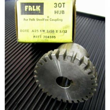 "Falk Rexnord 1030T 30T Steel Flex Coupling Hub 0704595 .625"" 5/8"" Keyed Bore"