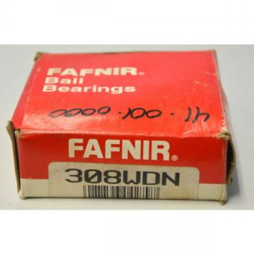 Fafnir Singel Row Ball Bearing #308WDN -  NIB - New Old Stock.