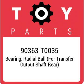 90363-T0035 Toyota Bearing, radial ball (for transfer output shaft rear) 90363T0