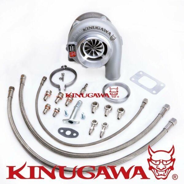 """Kinugawa Ball Bearing Turbo 4"""" GTX3576R w/ .57 T3 For NISSAN RB20/RB25 Top Mount #1 image"""