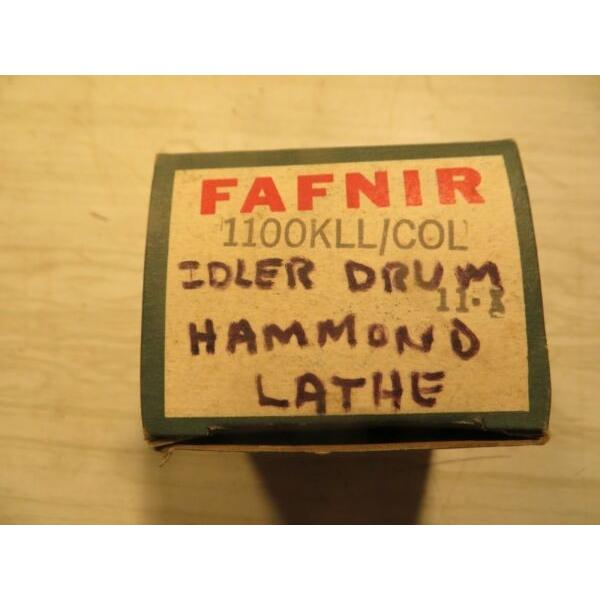 New FAFNIR 1100KLL+COL BEARING W/ Locking Collar , Hammond Lathe Idler Drum #1 image