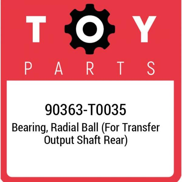 90363-T0035 Toyota Bearing, radial ball (for transfer output shaft rear) 90363T0 #1 image