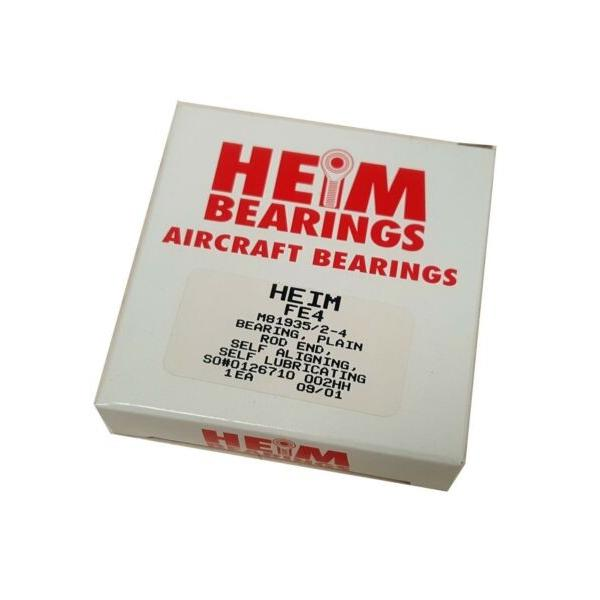 HEIM Bearings RBC FE4 M81935/2-4 Rod End Self Aligning Aircraft Bearing #1 image
